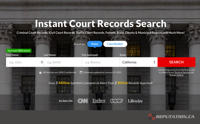 Court Search Example