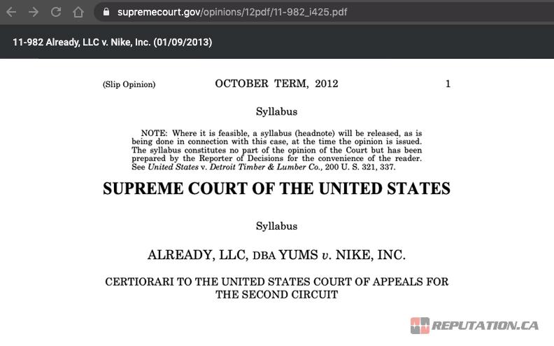 Example Lawsuit on Google