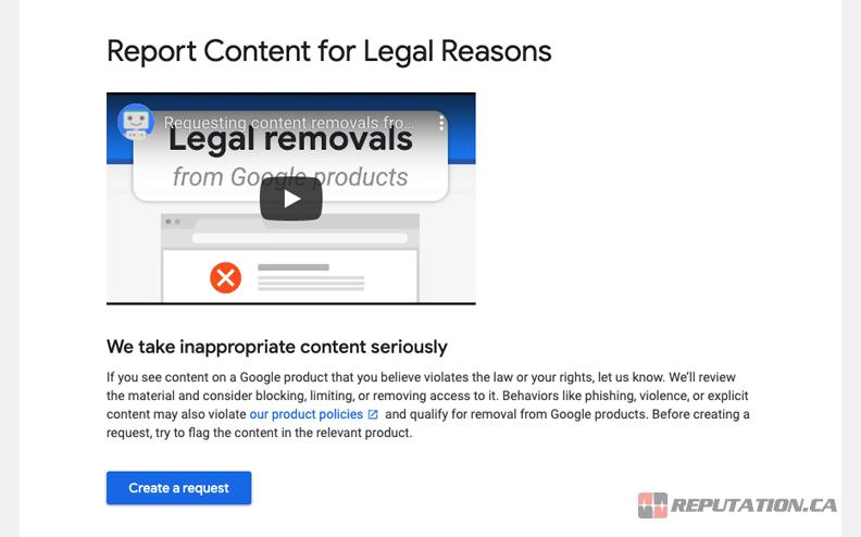 Legal Request