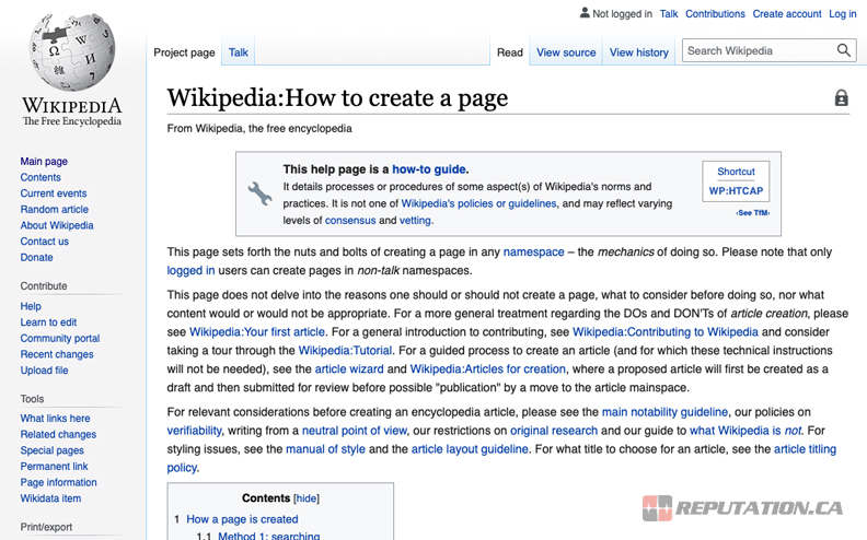 How to Create a Wikipedia Page