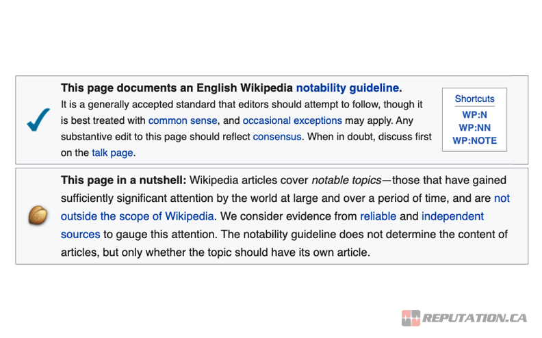 Notability Guidelines