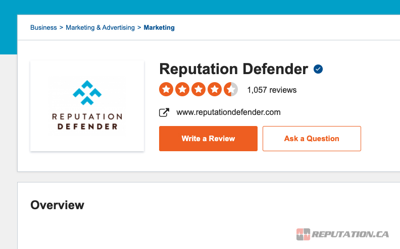 Reputation Defender Reviews