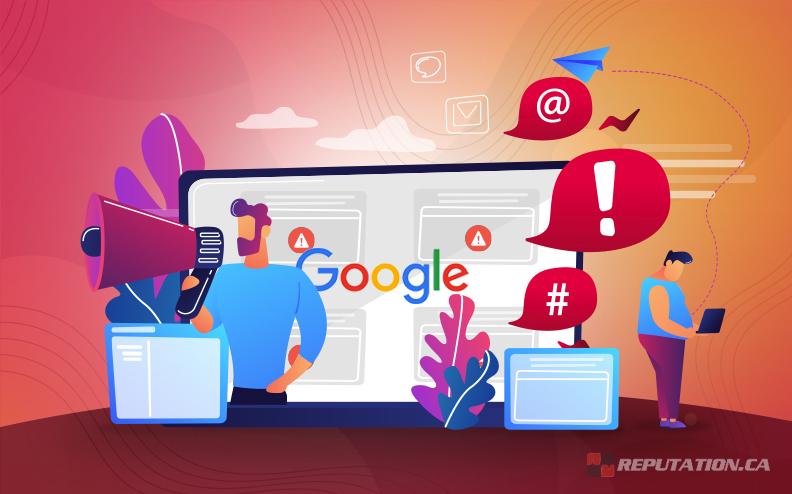 Negative Google Social Media