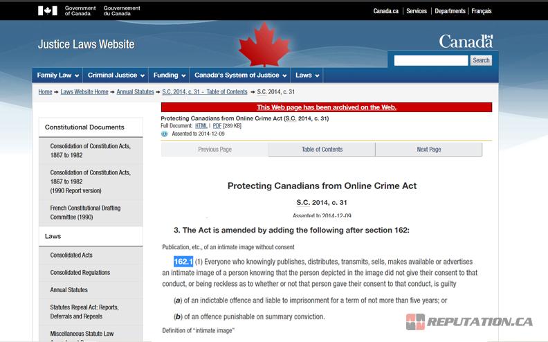Canada Laws Website
