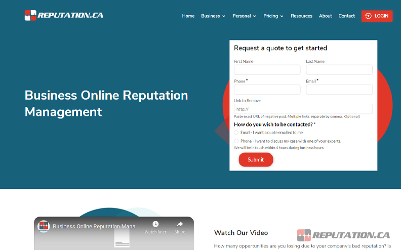 Reputation Business Management