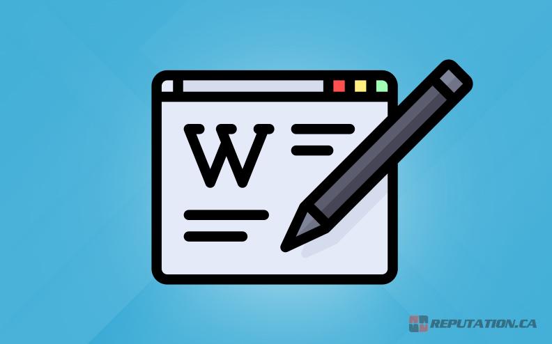 Writing Wikipedia Page