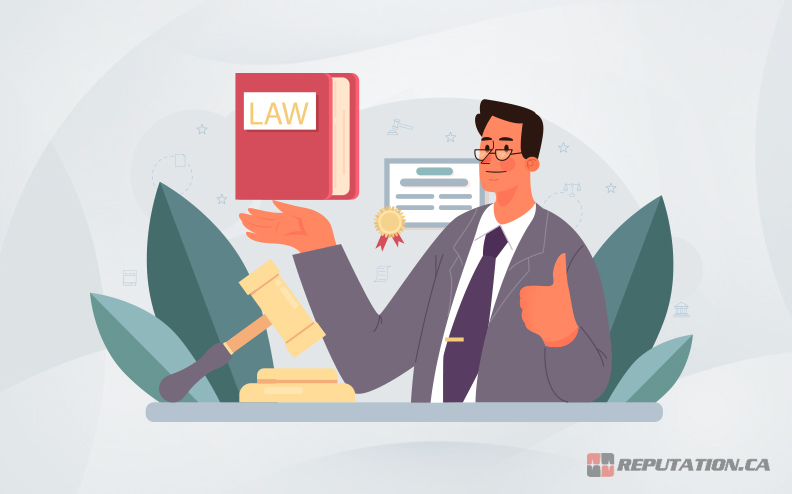Lawyer Holding Law Book