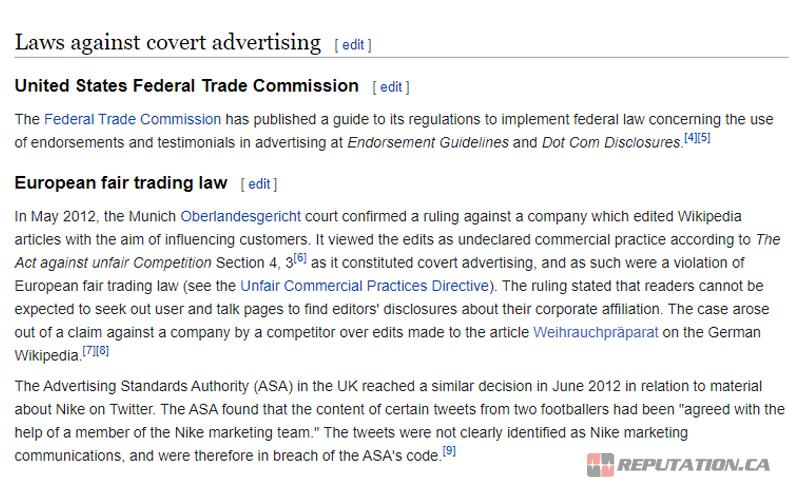 Covert Advertising Laws