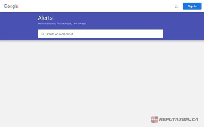 Google Alerts Page